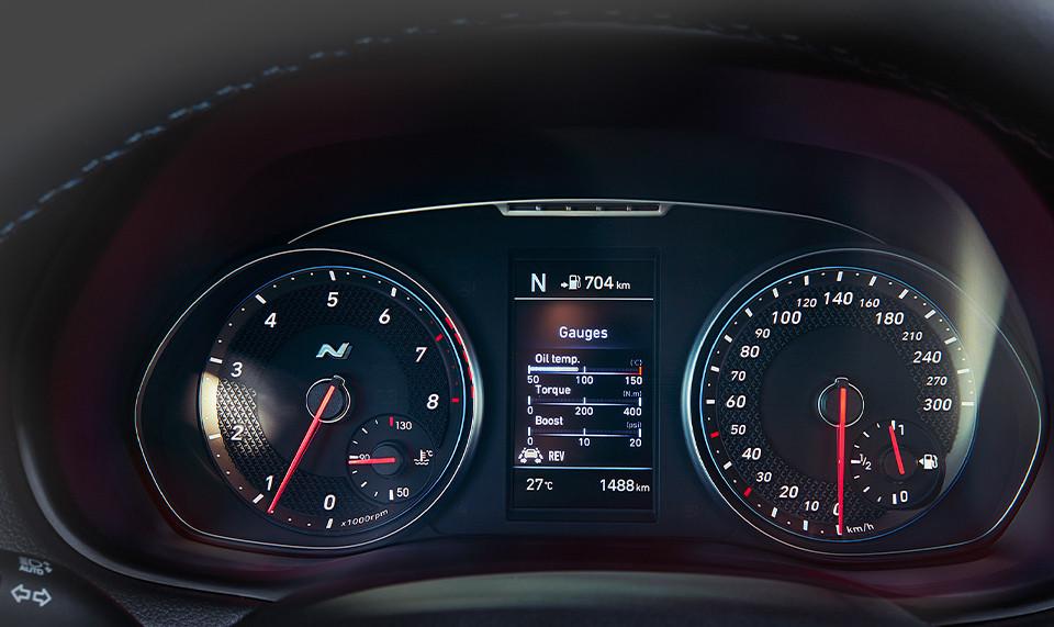Hyundai i30 N Instrumentenanzeige