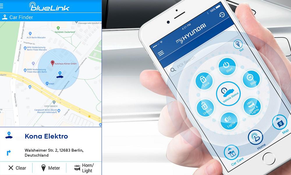 Hyundai Kona Elektro - Bluelink